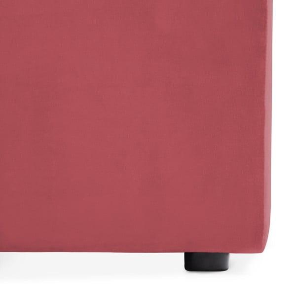 Červenorůžový levý rohový modul pohovky Vivonita Velvet Cube