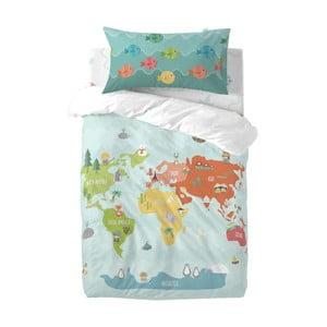 Dětské povlečení z čisté bavlny Happynois World Map, 115x145cm