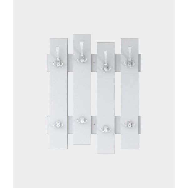 Cuier de perete Fence, lățime 64 cm, alb