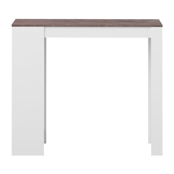Bílý barový stůl s hnědou deskou Symbiosis Aravis