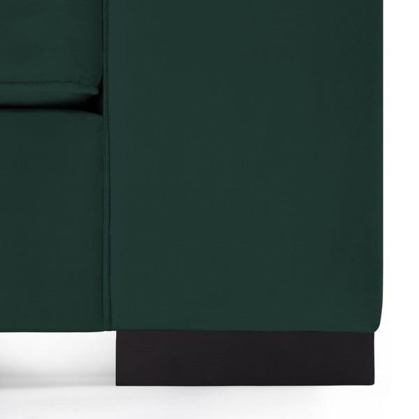Tmavě zelená trojmístná pohovka Vivonita Bronson