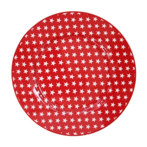 Dezertní talíř Krasilnikoff Stars Red