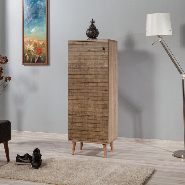 Dřevěný botník Mirto Stripes