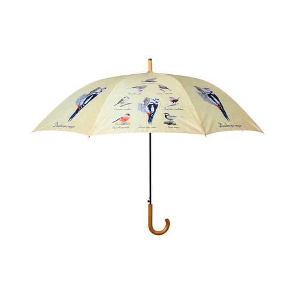 Dáždnik s potlačou vtáčikov Esschert Design, ⌀ 120 cm
