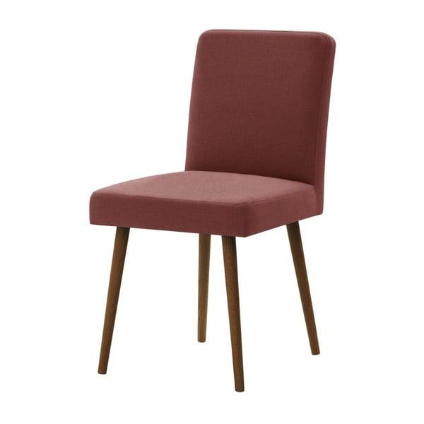 Cihlově červená židle s tmavě hnědými nohami z bukového dřeva Ted Lapidus Maison Fragrance