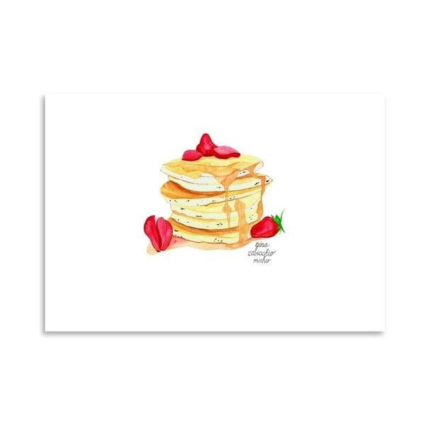 Autorský plakát Pancakes, 30x42 cm
