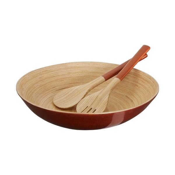 Salátová mísa z bambusu v bronzové barvě Premier Housewares, ⌀ 35 cm