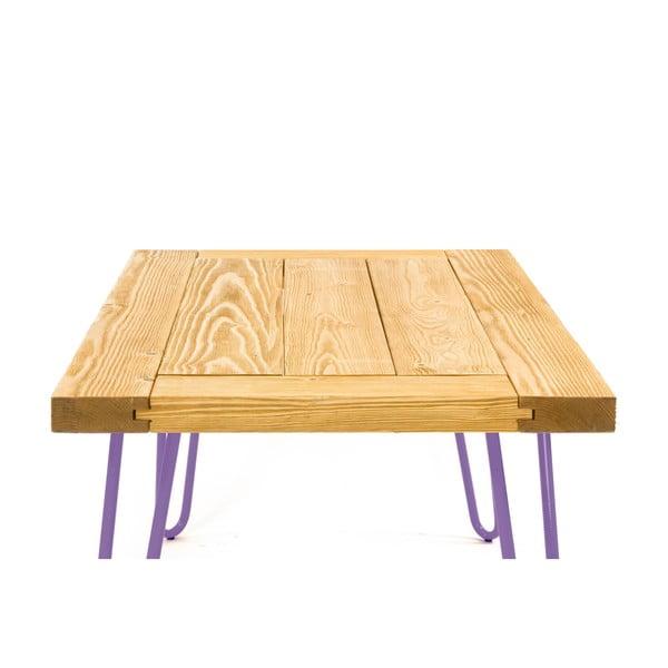 Konferenční stolek Table 100x60 cm, fialové nohy