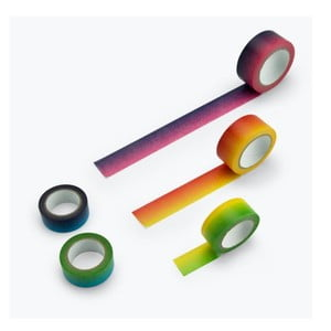 Sada 5 duhových washi pásek Just Mustard Rainbow
