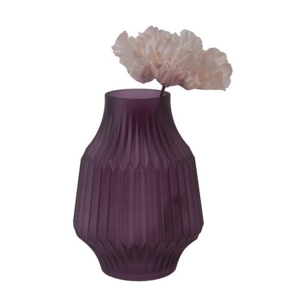 Fialová skleněná váza PT LIVING, Ø 13,5 cm