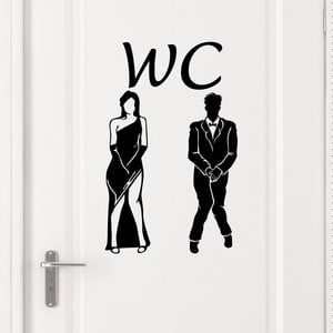 Samolepka Ambiance na dveře od WC Man Woman