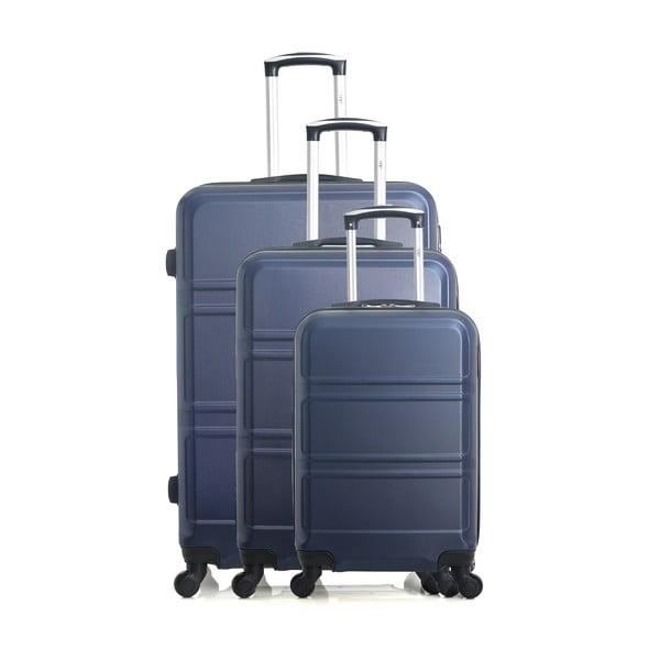 Zestaw 3 niebieskich walizek na kółkach Hero Utah