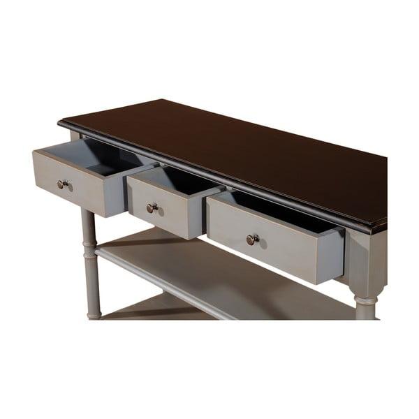 Odkládací konzolový stolek se třemi zásuvkami Transilvania, 110 cm