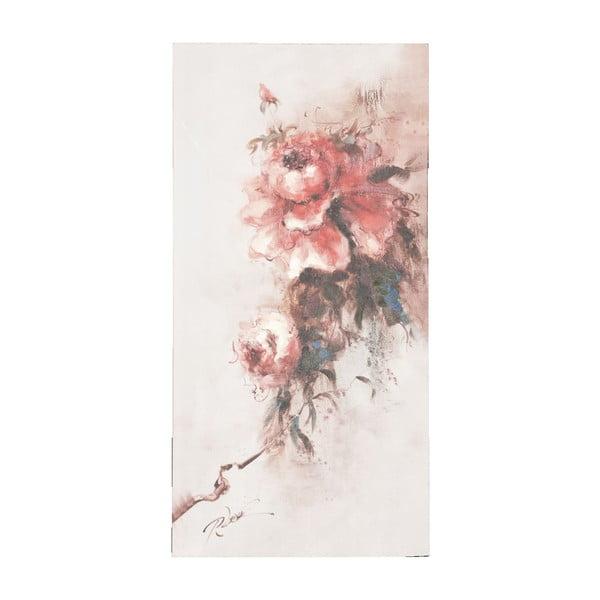 Obraz s růží Clayre, 60x120 cm