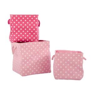 Sada 3 košíků Pink Universe