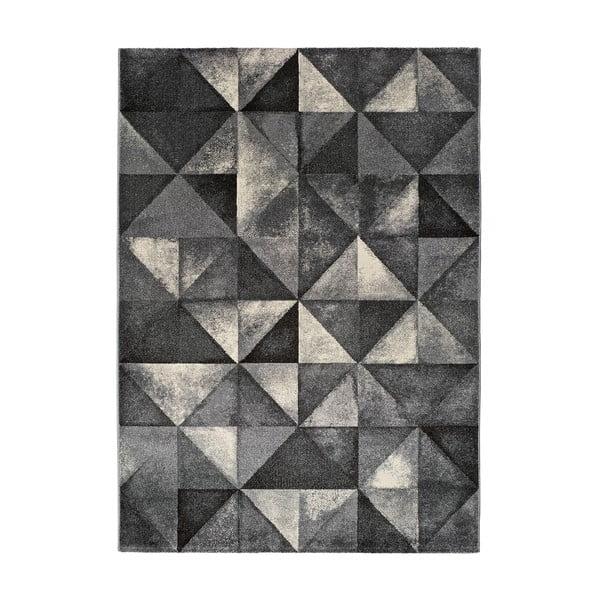 Covor Universal Delta Triangle, 125 x 67 cm, gri