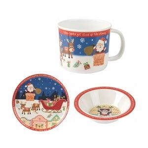 Dětský jídelní set Churchill China Santa Got Stuck