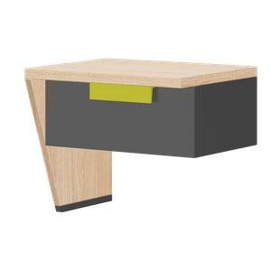 Noční stolek v dubovém dekoru Szynaka Meble Wow, levá strana