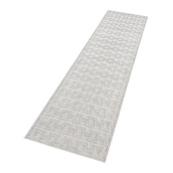 Světle šedý běhoun Mint Rugs Shine, 80 x 250 cm