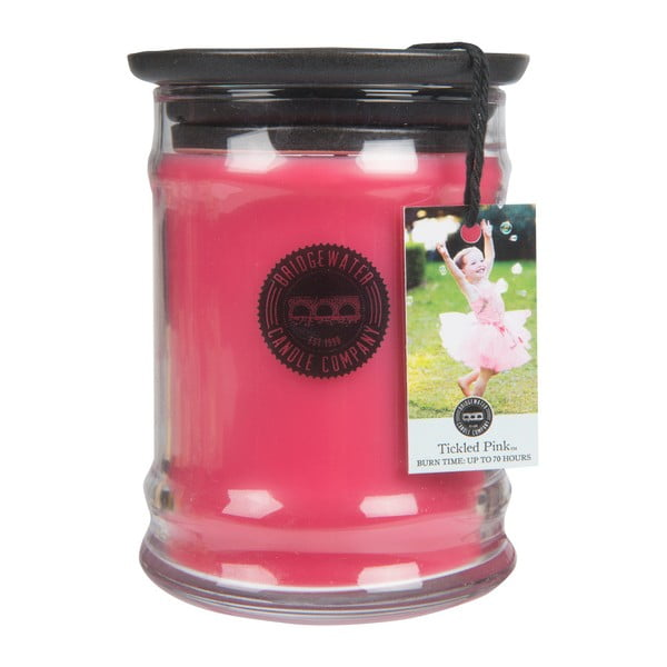 Svíčka ve skleněné dóze s vůní lipových květů Creative Tops Tickled Pink, doba hoření 65-85 hodin