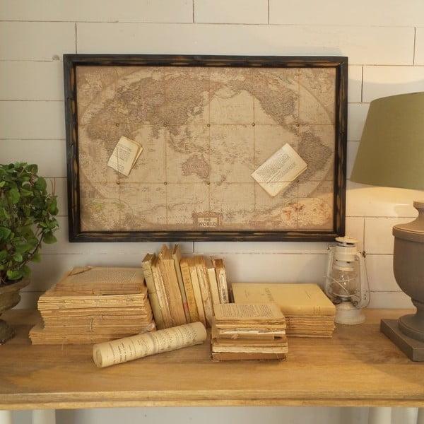 Nástěnná dekorace Deco Old Map World