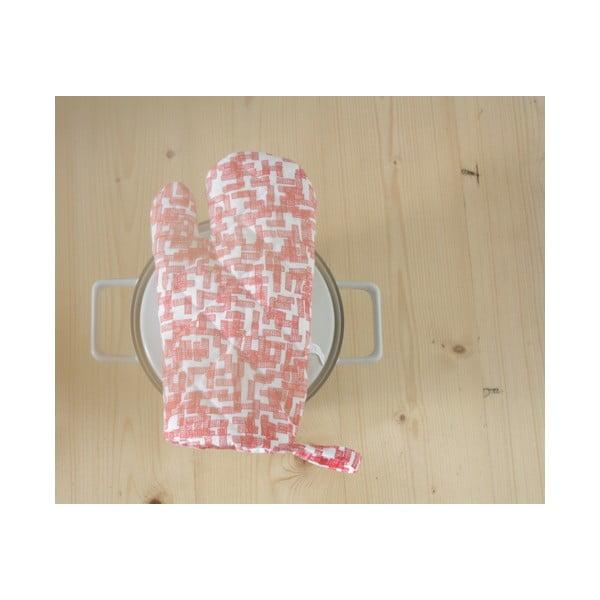 Kuchyňská rukavice Huis, růžová