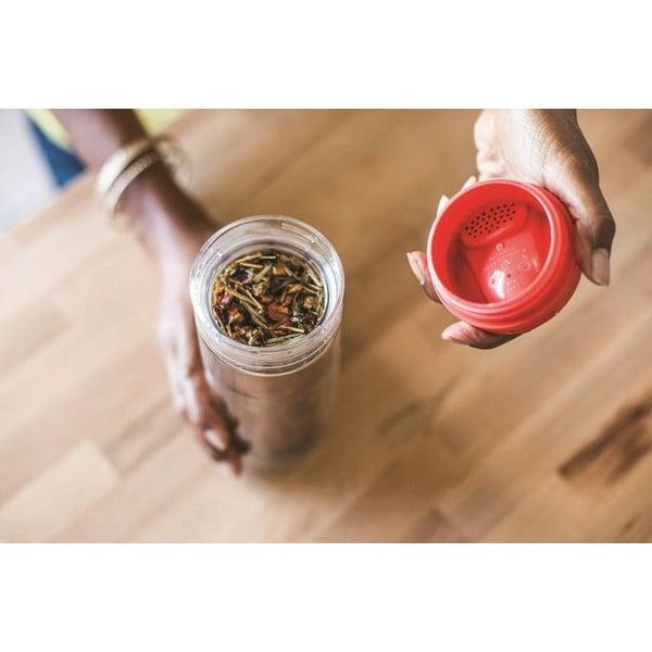 Hrnek s infusérem na čaj Aladdin 350 ml, fialový