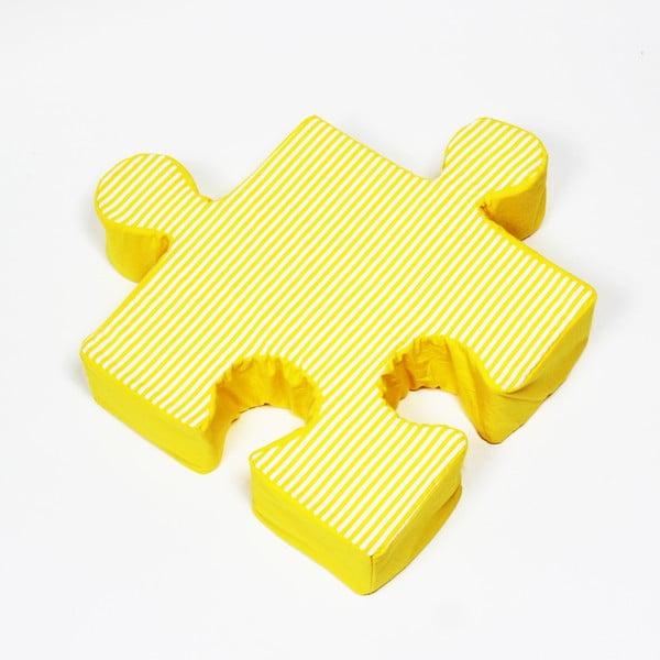 Puzzle Stripes sárga párna - K-ID