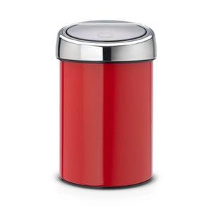 Červený odpadkový koš Brabantia Touch Bin, 3l