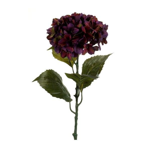 Umělá fialová hortenzie, 80 cm