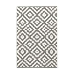 Šedý oboustranný koberec vhodný i do exteriéru Green Decore Ava, 140 x 200 cm