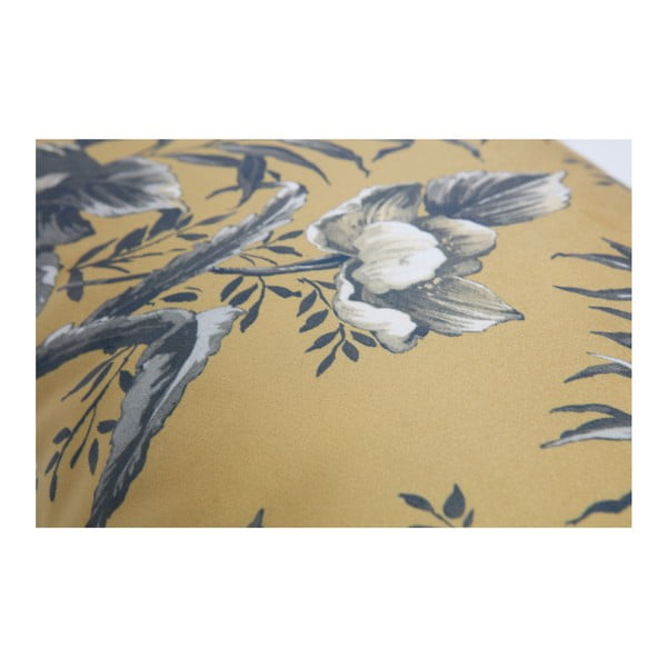 Pernă cu motive florale BePureHome Vogue, 40 x 60 cm, maro muștar