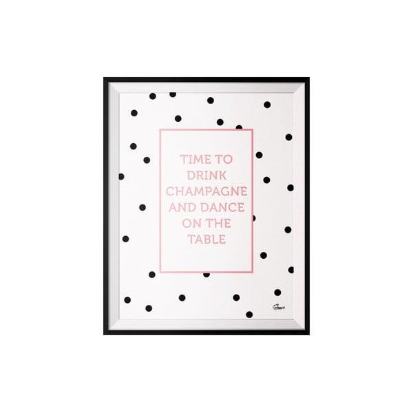Plakát Champagne, 40x50 cm