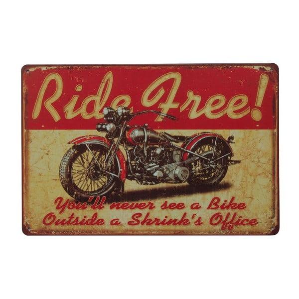 Cedule Ride Free, 20x30 cm
