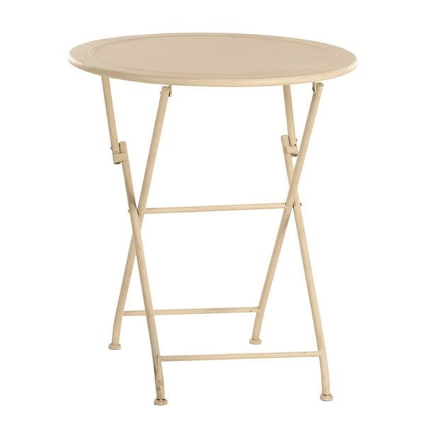 Kovový stolek Romance, slonovinová kost