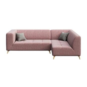 Colţar cu şezlong pe partea dreaptă MESONICA Toro, roz de la MESONICA