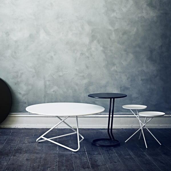 Bílý stůl Softline Tribeca, 90cm