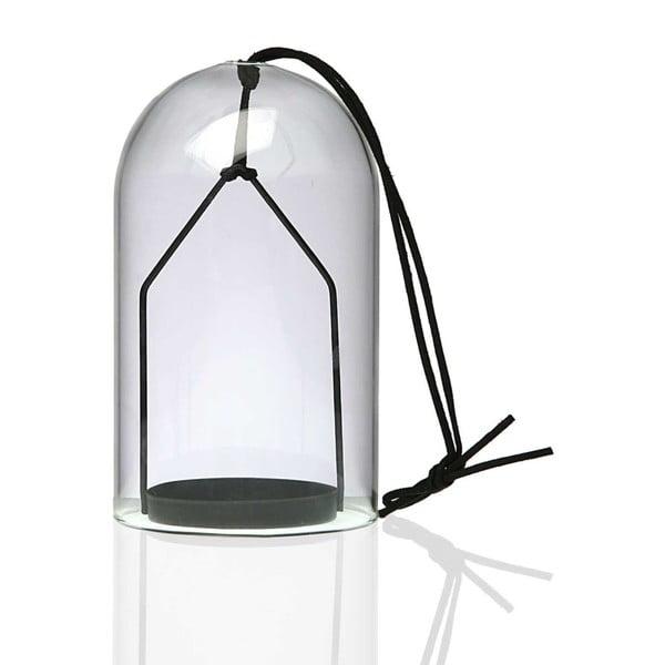 Felinar din sticlă Versa Tradma, negru