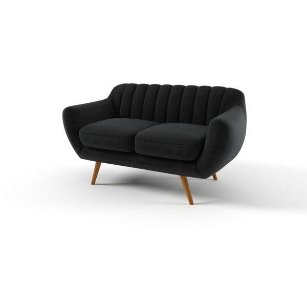 Sofa Azure pro dva, tmavě šedé