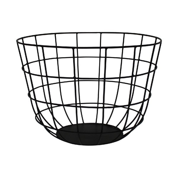 Kovový košík Netz Black, 20 cm