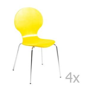Sada 4 žlutých jídelních židlí Actona Marcus Dining Chair