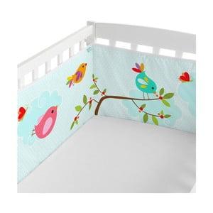 Textilní ohrádka na postýlku Little W Happy Spring, 210 x 40 cm