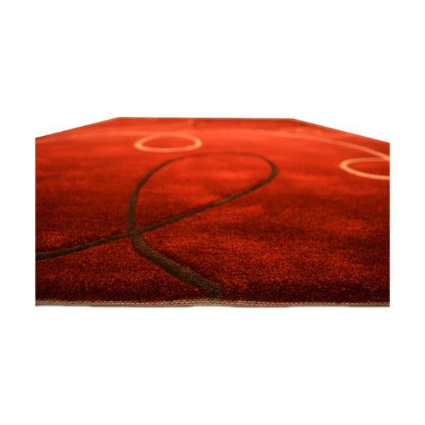 Ručně tkaný koberec Pluto, 170x240 cm, červený