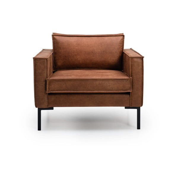 Rate konyakbarna bőr fotel - Softnord