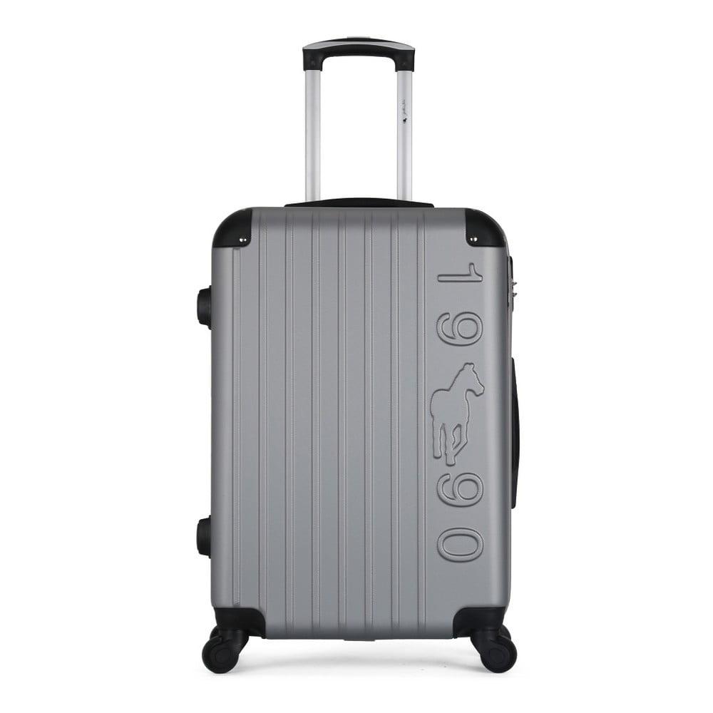 Šedý cestovní kufr na kolečkách GENTLEMAN FARMER Valise Grand Cadenas Integre Malo, 45 x 65 cm