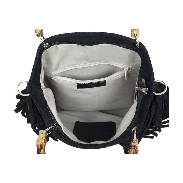 Kožená kabelka Messie Black