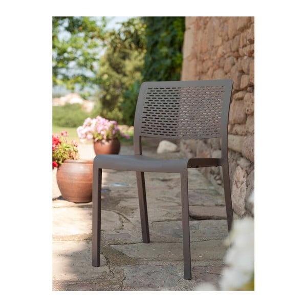 Sada 2 čokoládově hnědých zahradních židlí Resol Trama Simple