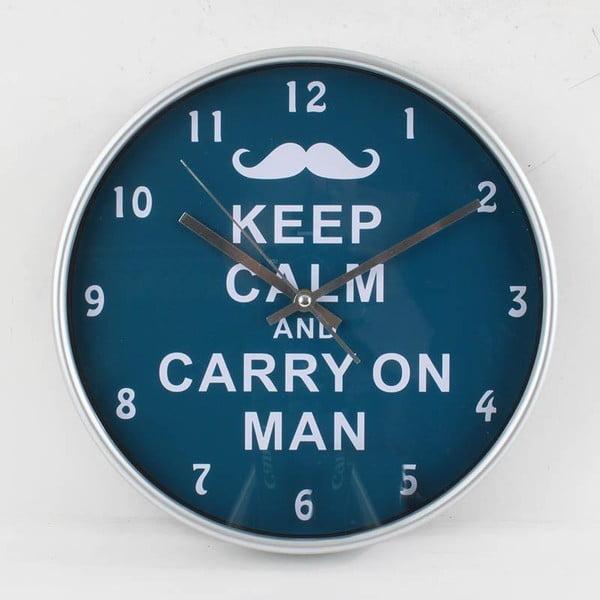 Hodiny Keep Calm Blue