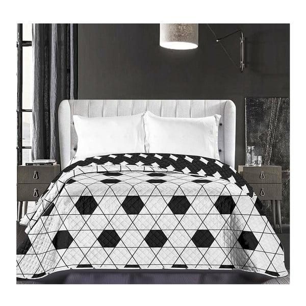 Hypnosis Harmony kétoldalas mikroszálas fekete-fehér ágytakaró, 240 x 260 cm - DecoKing