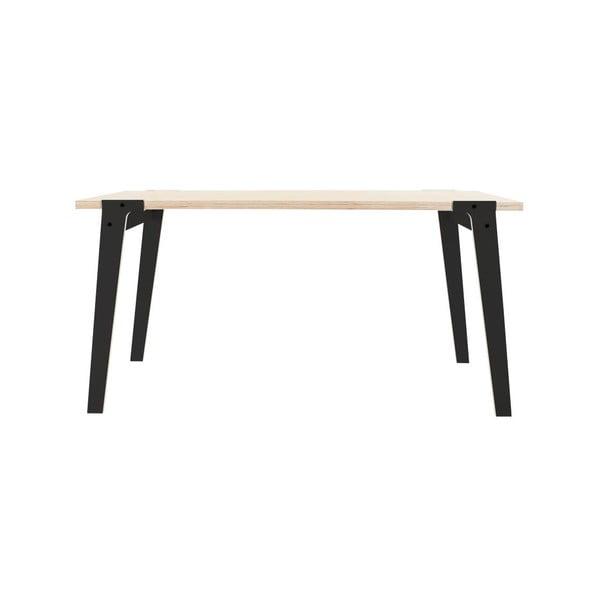 Černý jídelní/pracovní stůl rform Switch, deska 150x75 cm